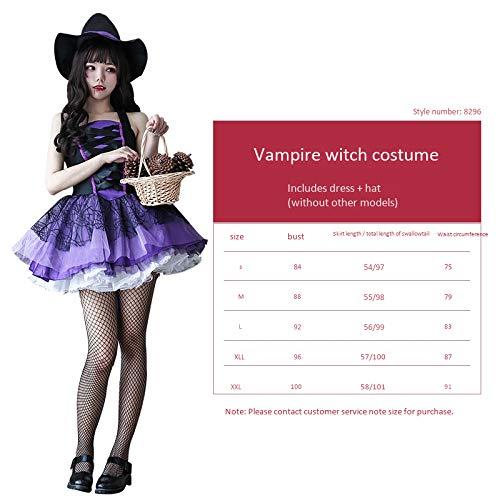 Smoking Kostüm Adult - haojiagongsi Bitte kontaktieren Sie Uns für die Größe Halloween-Kostüm Adult Hexenkostüm Maskerade Cosplay Lila Smoking