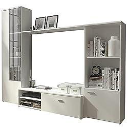 Honeypot - Hugo - Furniture set - Entertainment stand -TV unit - Oak - White/Oak - White (White)