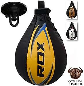 RDX Cuoio Palla Tesa Per Speed Ball Bag Veloce Boxe Allenamento Pugilato Gancio Soffitto Pugilato