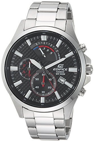 Casio Men's 'Edifice' Quartz Stainless Steel Casual Watch, Color:Silver-Toned (Model: EFV-530D-1AVCF)