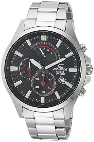 Casio Men's 'Edifice' Quartz Stainless Steel Casual Watch, Color:Silver-Toned (Model: EFV-530D-1AVCF)