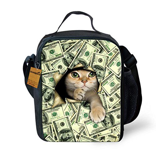 orrinsports-3d-print-insulated-lunch-bag-totes-keep-hot-and-cold-for-kids-money-cat-by-orrinsports