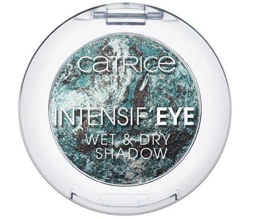 Catrice Cosmetics Intensif´Eye Wet & Dry Shadow Baked Eyeshadow gebackener Lidschatten Nr. 040 Have You Seen Alice? Farbe: Dunkelgrün / Grau / Weiss mit Glanz Inhalt: 0,8g Lidschatten für strahlend schöne Augen (Baked Eye Shadow)