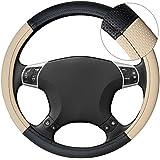 akhan lb26–Volante funda Volante móvil negro beige para todos los tipos de volante 37cm de 39