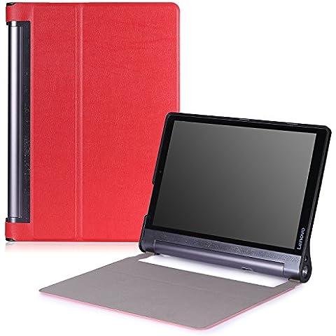 Lenovo Yoga Tab 3 pro Funda - MoKo Ultra Lightweight Slim-shell Stand Cover Funda para Lenovo Yoga Tab 3 Pro 10.1 Inch Tablet, Rojo