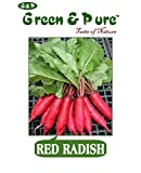 #5: Green & Pure - High Yield Organic Vegetable Seeds - Radish (Red) - Pack of 3 for Kitchen / Terrace / Home Garden
