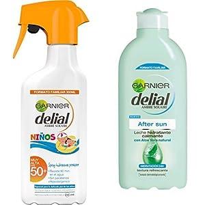 Garnier Delial Spray Protector Niños IP50 con Leche Hidratante After Sun – Total: 700 ml