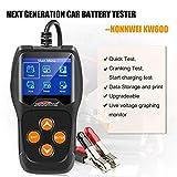 SueSupply Universal-Batterietester 12 V für Konnwei KW600, Batteriedetektor für Motorrad, großes LCD-Display