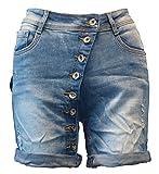 ZAC & ZOE Boyfriend Jeans Shorts Bermuda kurze Hose/ Stretch / Vintage-Used-Blue / B179 / 20170500016 (36 (S), Vintage-Used-Blue)