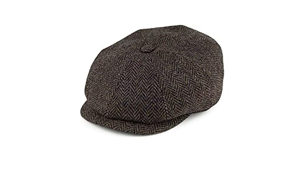 665d60687f8 Stetson Hats Hatteras Harris Tweed Newsboy Cap - Olive Multi 55   Amazon.co.uk  Clothing