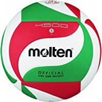 Molten V5M4500, Pallone da pallavolo, colore: Bianco/Verde/Rosso