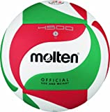 Molten V5M4500 Ballon de volley-ball Blanc/vert/rouge Taille 5
