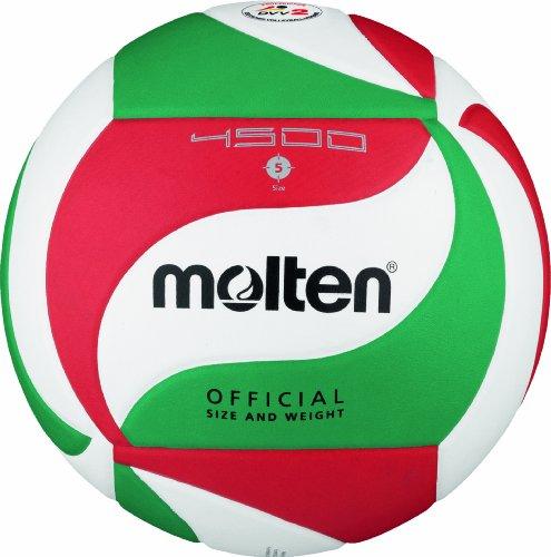 Molten Volleyball Größe 5 Ball, Weiß/Grün/Rot, 5