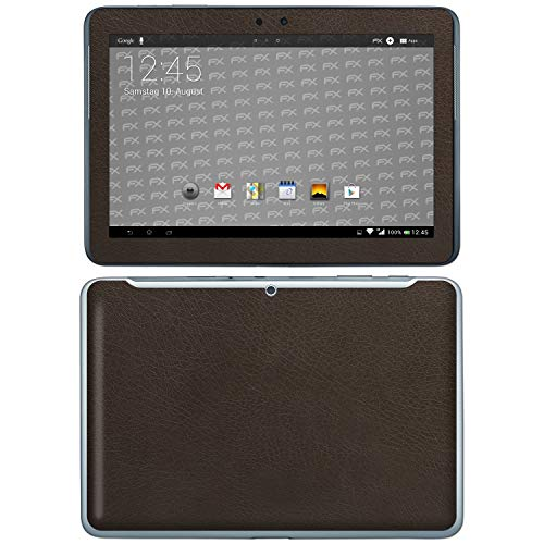 bel mit Samsung Galaxy Tab 2 10.1, Designfolie Sticker (FX-Leather-Brown), Feine Leder-Struktur ()