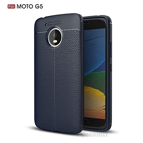 Motorola Moto G5 Hülle, Cocomii Ultimate Armor NEW [Heavy Duty] Premium Leather Pattern Slim Fit Shockproof Hard Bumper Shell [Military Defender] Full Body Dual Layer Rugged Cover Case Schutzhülle (Deep Blue)