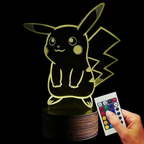 Pokmon-Deko-lmpara-Pikachu-3d-de-discapacitados-Illusion