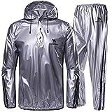 CAMEL CROWN Sweat Suit Herren Leichte Trainingsanzug Super Sweat Hooded Sauna Suit Schwitzanzug Für Sport Sauna
