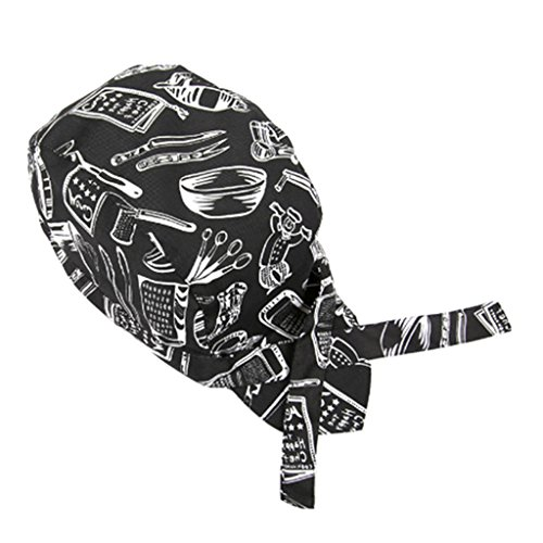 MagiDeal Bandana Kopftuch, Motorrad Bandana Hüte, Piraten Kappe Kopftuch, Pirat Hut Schal, Kochmütze Kochen Hut, Kostüm Zubehör - Messer Gabel (Kostüme Gabel Messer Löffel)