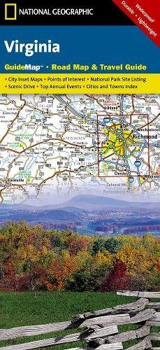 Virginia: National Geographic Guide Map: NG.GM46.00620544