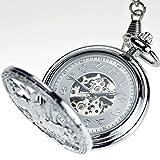 LCCGLR pocket watch Caballo al éxito Reloj de Bolsillo mecánico automático Mesa de Examen Hombres y Mujeres Flip Openwork Retro Reloj Colgante conmemorativo