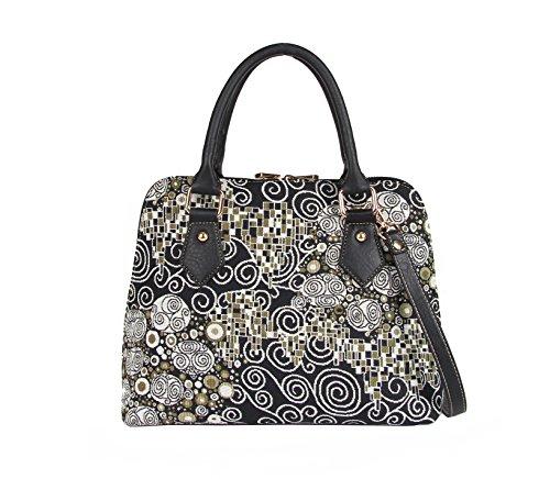 Einzigartig Damen Top Griff Tasche von Signare/Tapisserie Handtasche Umhängetasche Henkeltaschen/Kiss Gustav Klimt CONV-KISS -