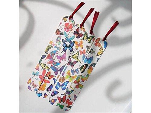 Marcas de libros impresas con mariposas de papel, 4 unidades, ideal para regalar a mujeres y niñas en proyectos de bricolaje