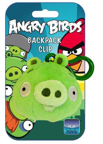 Angry birds - 2261 - Peluches Clip en Display - Cochon Vert