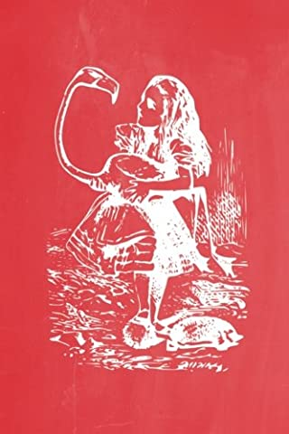 Alice in Wonderland Pastel Chalkboard Journal - Alice and The Flamingo (Red): 100 page 6