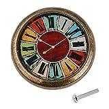 Poigne-de-Traction-Bouton-de-Porte-pour-Armoire-Tiroir-Vintage-Motif-Horloge-12