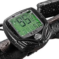 Ordinateur de Vélo sans Fil, Compteur Kilometrique de Vélo Compteur de Vitesse Multifonction Ordinateur de Vélo Étanche avec Rétroéclairage LCD d'affichage de l'écran