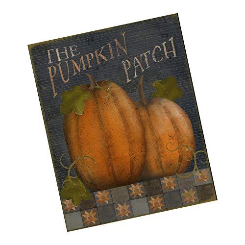 Dozili Primitive Herbst-Schild – Kürbis Patch Schild – Kranz ()