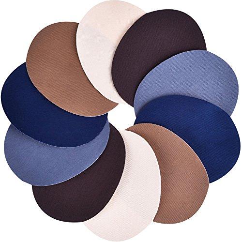 5 Farbe 10 Stück Aufbügelflicken 5 mal 3,9 Zoll Denim Bügelflicken Patches Bügeleisen Reparatursatz