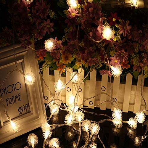 Lichterkette LED Bruchglaskugeln