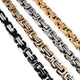 Fly Style Königskette 6 mm Edelstahl Panzerkette | Herren Halskette Damen Armband, Farbwahl:Silber, Längen:60 cm