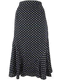 782ff916ef Eastex Navy Dotty Print A-Line Skirt