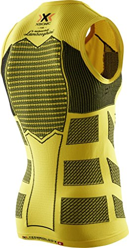 X-BIONIC T-shirt oberbekleidung Lamborghini Running pour homme, Homme, Lamborghini Running Sleeveless Men Yellow Sunshine-Black Y111
