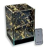 Skaize Lichtwürfel Leuchtwürfel Lichterketten Glas Lampe mit Fernbedienung (LED Lichterkette, Batterie-Betrieb) | Deko-Licht für Tisch und Zimmer