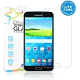 iXCC ® Tempered-Glass Round Angle High Definition (HD) Hard Invisibleshield Screen Protector for Samsung Galaxy S5 Premium Crystal Clear [Xtreme Scratch Defender Ultra-Clear High-Response Touch-Screen Sensitivity]- Industry-High 9H Hardness, Anti-Bubble, Anti-Smudge, Anti-Glare, Anti-Fingerprint and Anti-Shatter [Long-Lasting protection, Ultra Tough ]