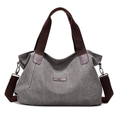Nlyefa Damen Umhängetasche Schultertasche Canvas Handtasche Retro Stil Multifunktionsbeutel für Schule, Reise, Alltag, Arbeit