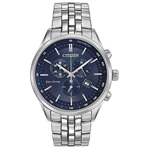 Citizen orologio cronografo solare uomo con cinturino in acciaio inox at2141-52l