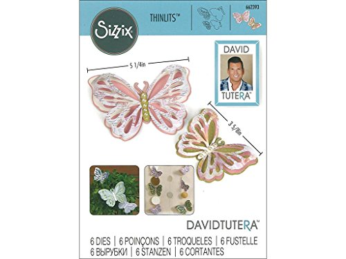 Sizzix Thinlits-Juego Troqueles 6pk-Delicate Mariposas