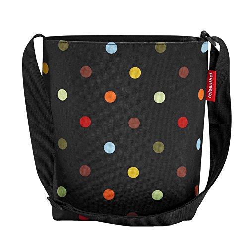 reisenthel shoulderbag S dots - Schultertasche Umhängetasche 4,7L schwarz Punkte