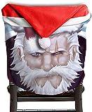 Bad Santa Man Christmas Art Christmas Seat Chair Cover Dinner Table Decorazioni per la casa
