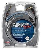 Monster Cable BASS2-12A Câble Jack droit/Jack coude 3,65 m Noir