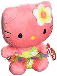 Hello Kitty - Peluche, 15 cm, Color Rosa Oscuro (TY 41029TY)