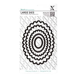 Docrafts Large Nesting Dies, Scalloped Oval (Pack of 5)