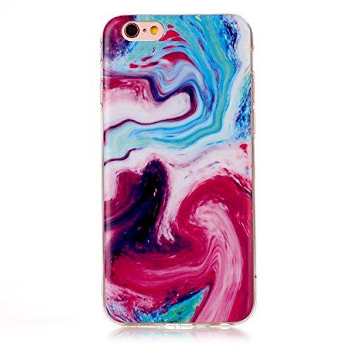 EKINHUI Case Cover Für Apple IPhone 6 & 6s Plus Rückseiten-Abdeckung Weiche flexible dünne u. Leichte bunte TPU pretektive Silikon-Kasten-Abdeckung ( Color : A ) D