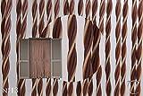 Cirillo Tende PVC-Türvorhänge Modell Capri - Aluminiumträger - Made in Italy - Eichmaß (80X200/95X200/100X220/120X230/130X240/150X250) - Fliegenvorhang (120x230, Bronze und Elfenbein)