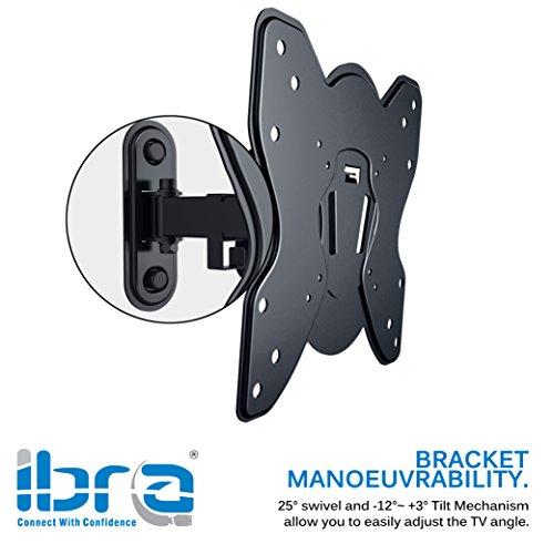 IBRA Full Motion Inclinable et Pivotant TV Support Mural Pour 23 /à 42 pouces LED Plasma /écran LCD et /écrans Incurv/és VESA universel 200-200