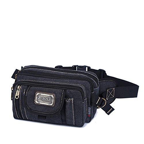 BUSL Wandern Hüfttaschen Kassen Business Casual Messenger Bag Außenreit Brust Leinwand Schulter Multifunktionstaschen Männer C